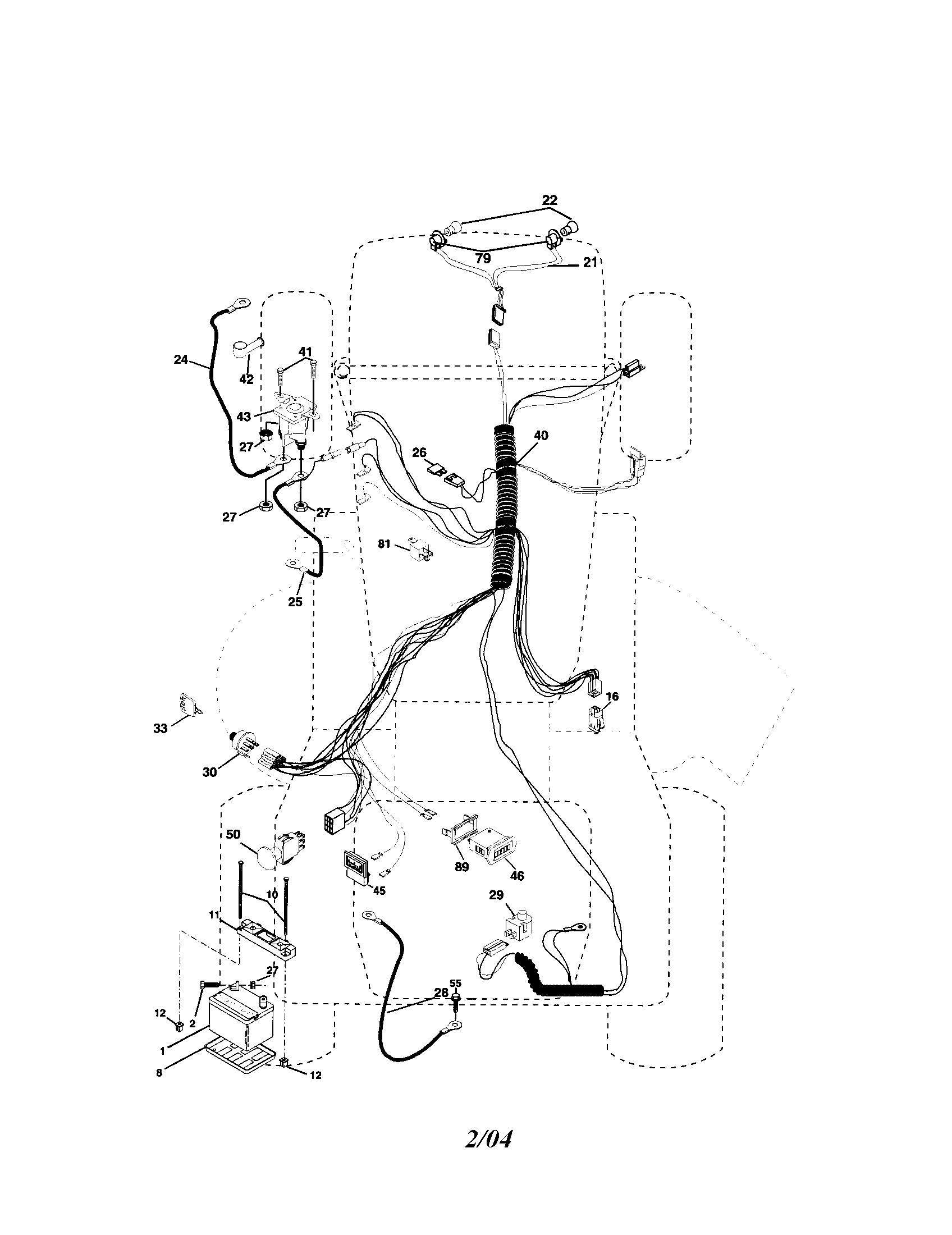 Sear Riding Mower Wiring Diagram