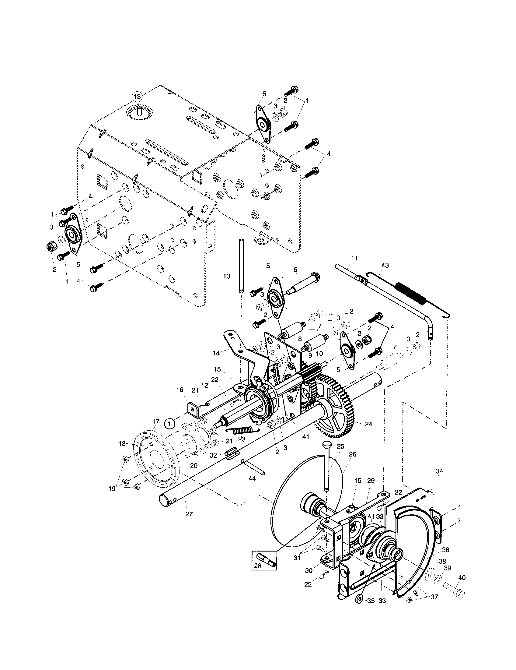 DRIVE Diagram & Parts List for Model pp927esb Poulan-Parts