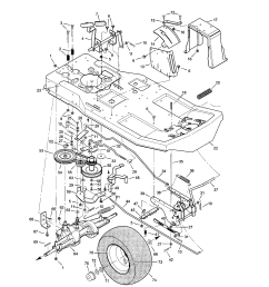 looking for murray model 30550h rear engine riding mower repair need a diagram to replace the belt on a murray riding lawn [ 1696 x 2200 Pixel ]