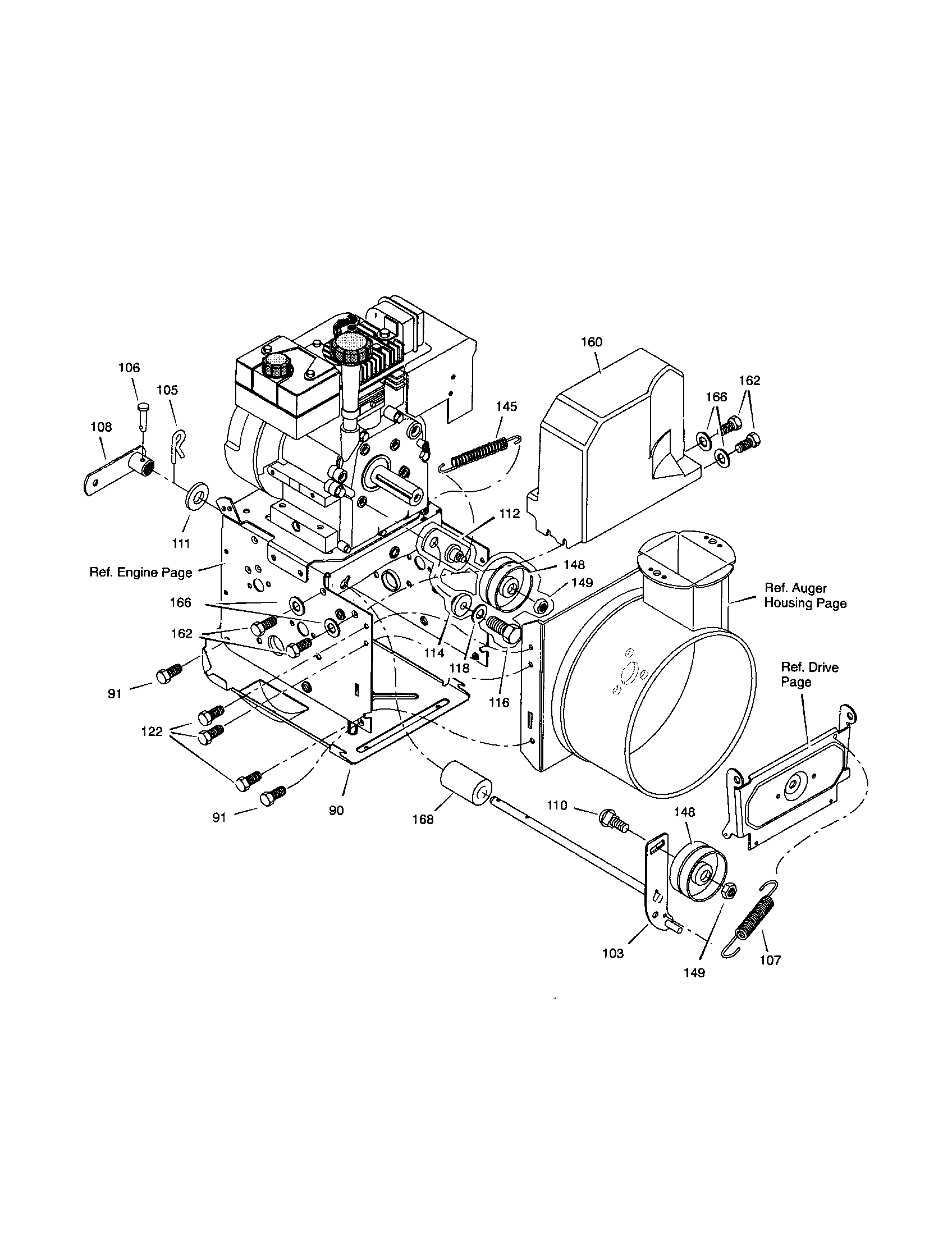 FRAME Diagram & Parts List for Model 627804x6c Murray
