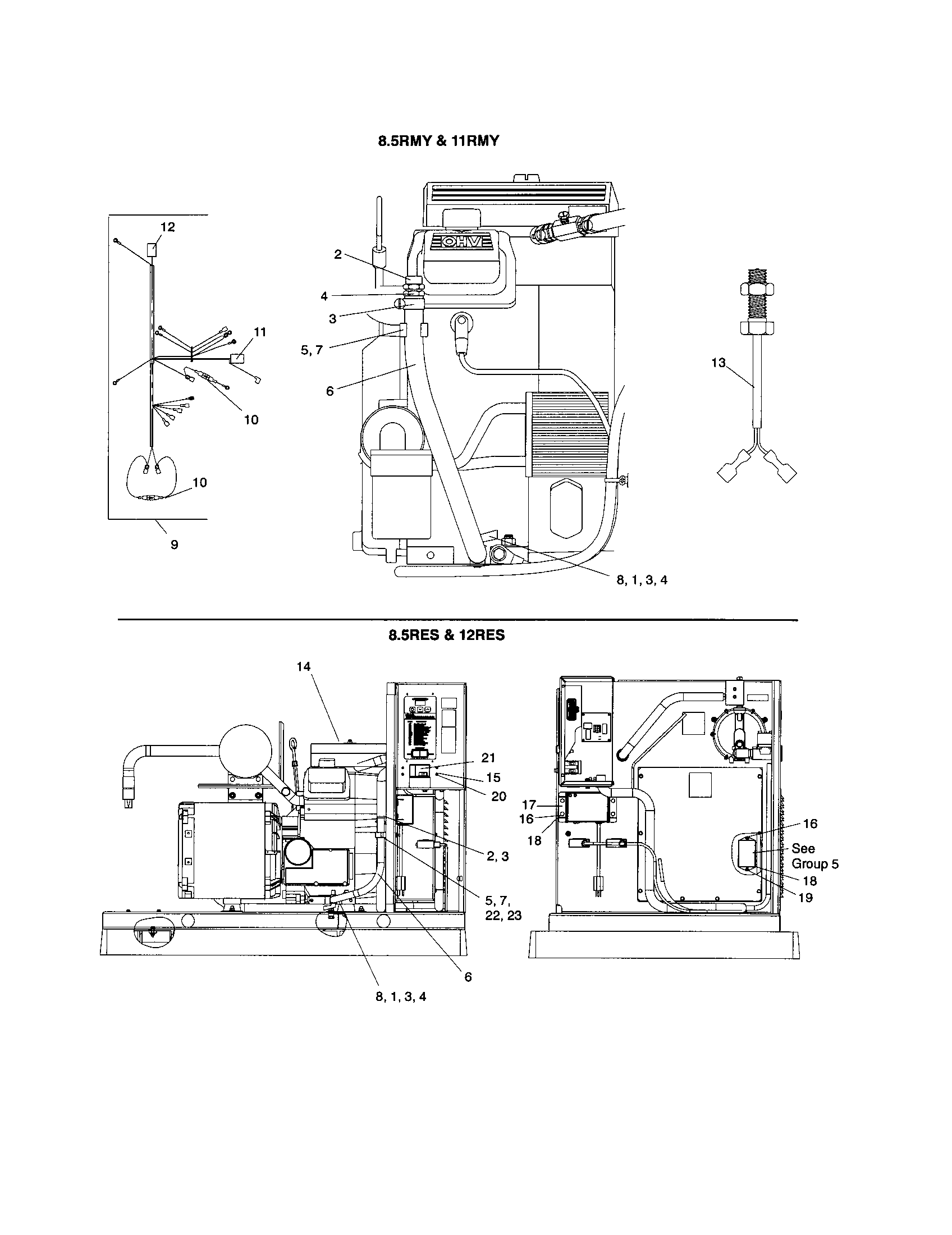 ENGINE Diagram & Parts List for Model 8512res Kohler-Parts
