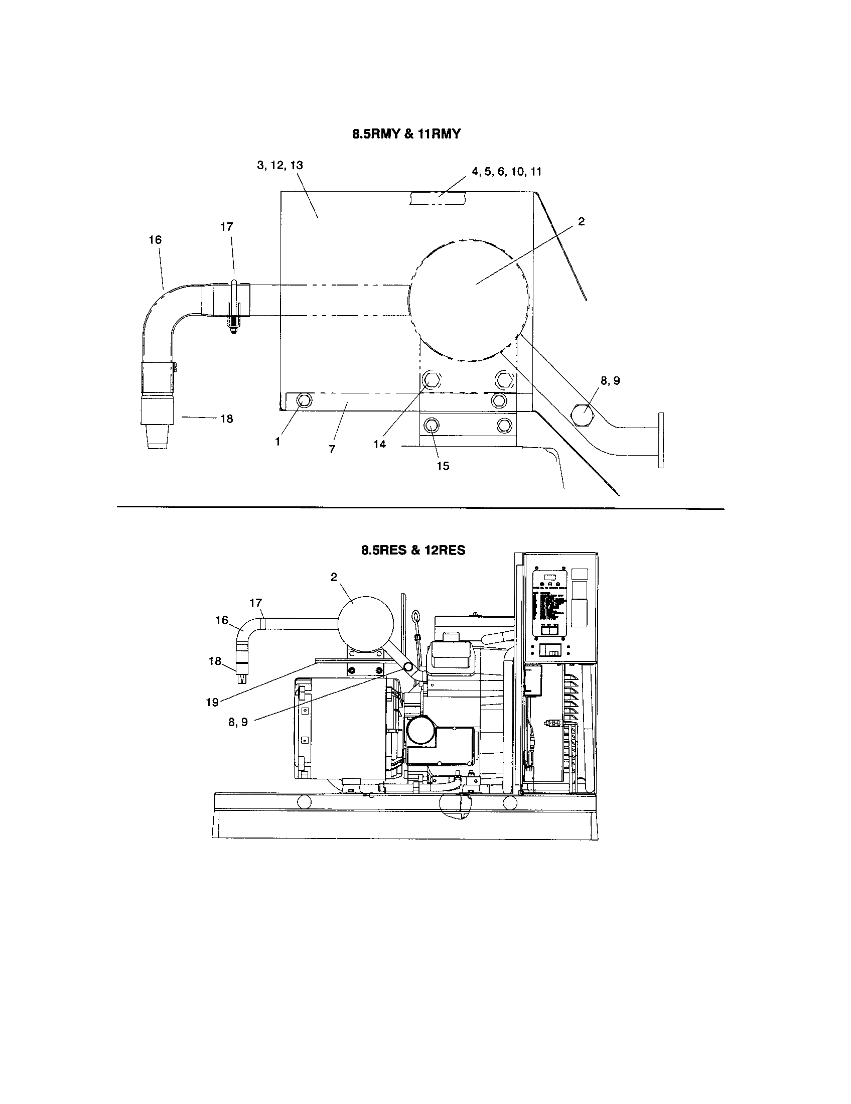 Diagram And Parts List For Kohler Generator Model, Diagram