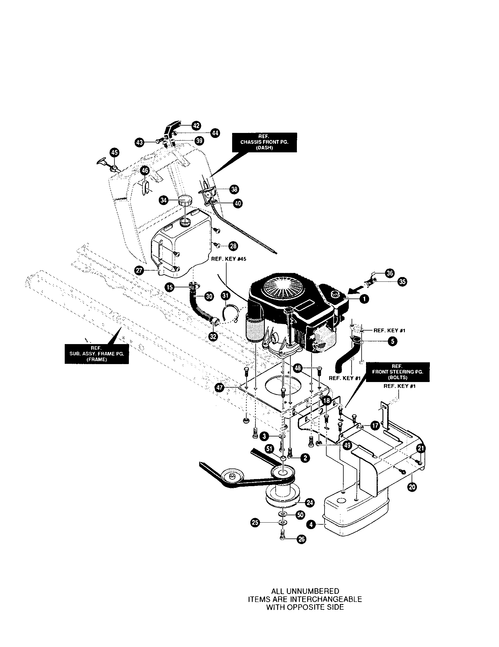 KOHLER ENGINE Diagram & Parts List for Model 42566x89 Yard