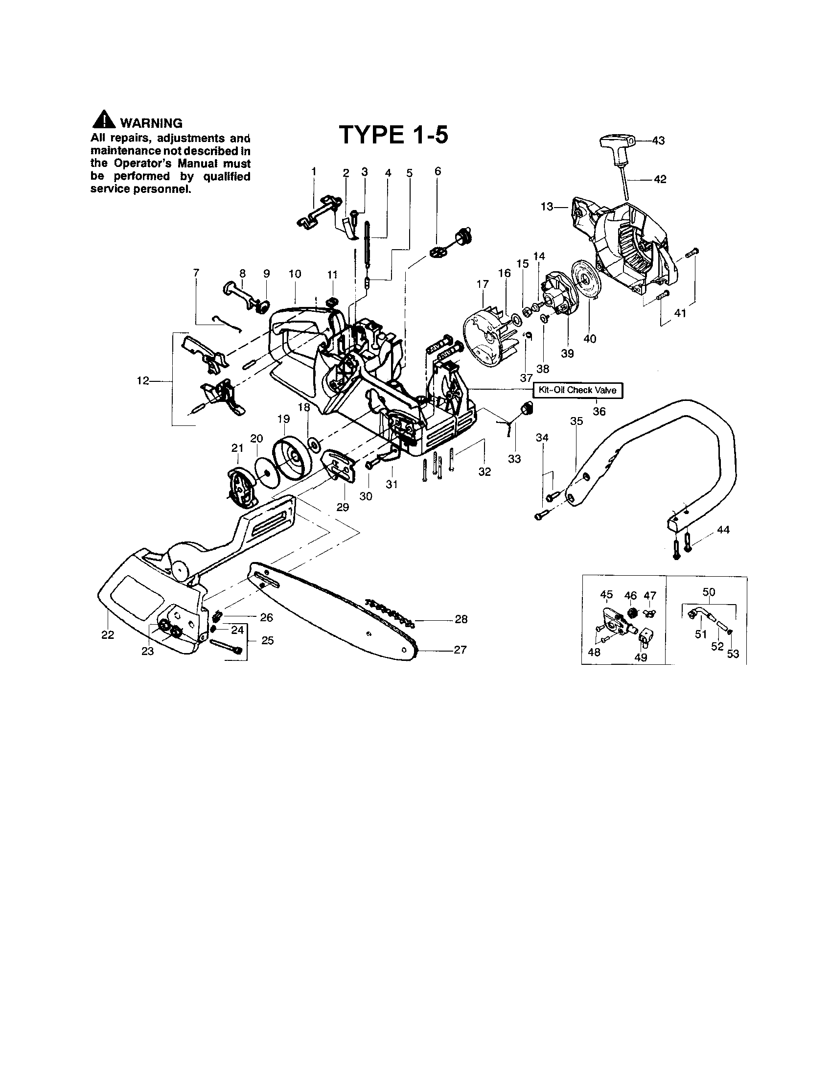 BLADE Diagram & Parts List for Model 1975type15 Poulan