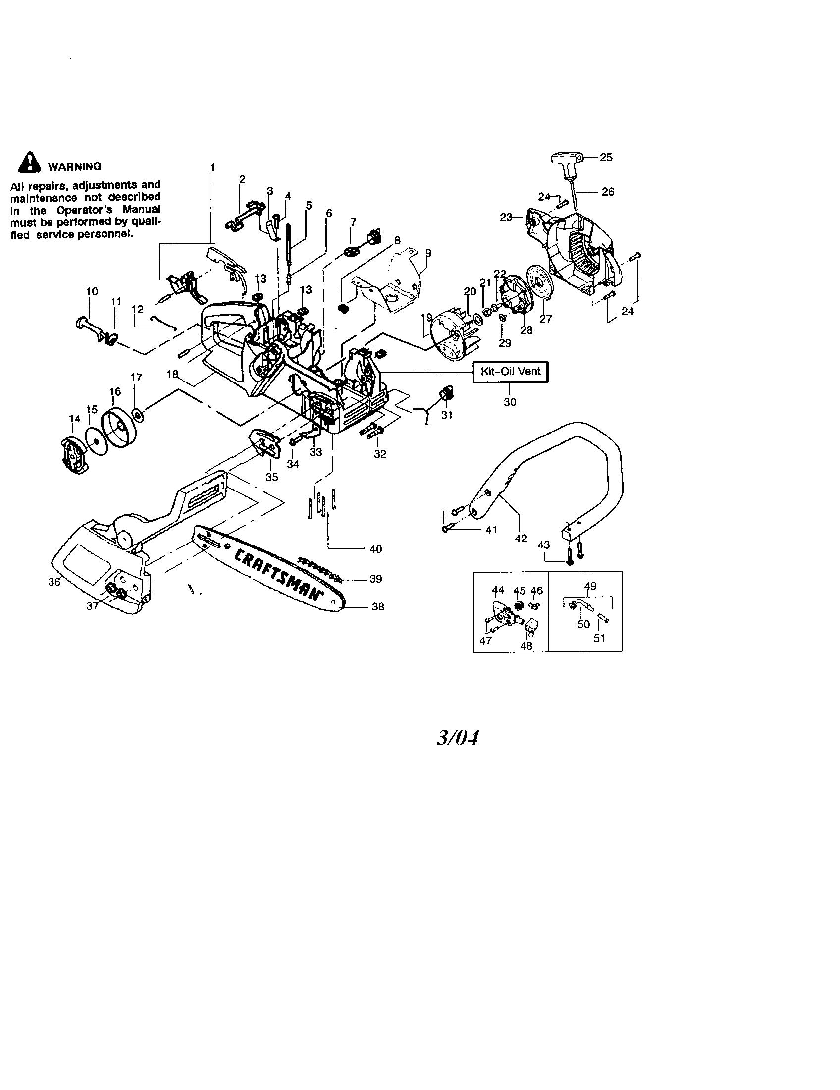 [WRG-7916] Craftsman 42cc Chainsaw Carburetor Engine Diagram