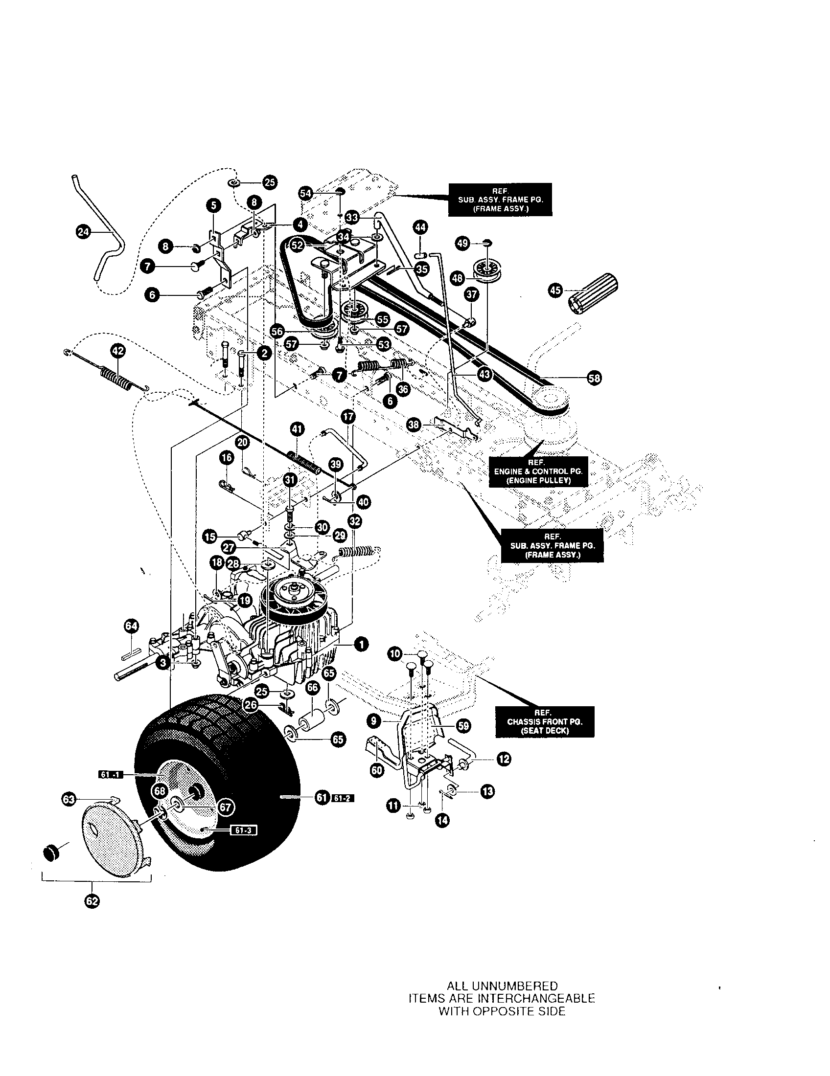 hight resolution of yard king 50562x89 motion drive assembly diagram
