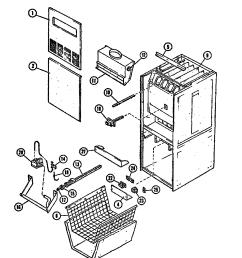 intertherm furnace part diagram [ 1696 x 2200 Pixel ]