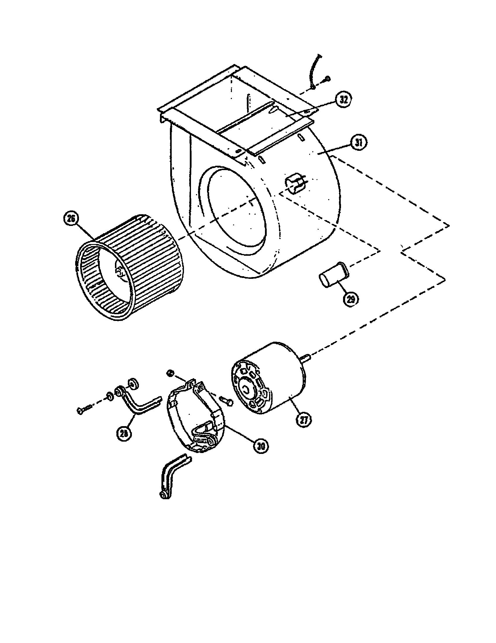 BLOWER/MOTOR Diagram & Parts List for Model g12827 Lennox