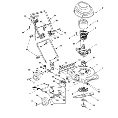 Bolens Lawn Tractor Parts Diagram Dmz Architecture Model 707 Walk Behind Lawnmower Electric Genuine