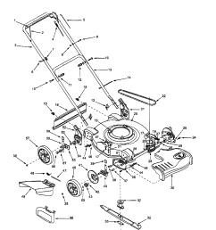 bolens 12a 264l163 22 self propelled mower diagram [ 1696 x 2200 Pixel ]
