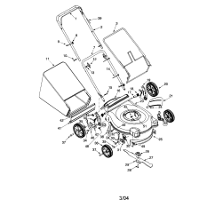 Bolens Lawn Tractor Parts Diagram Stratocaster Pickup Wiring Model 11a 416h763 Walk Behind Lawnmower Gas Genuine
