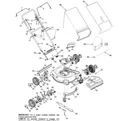 Bolens Lawn Tractor Parts Diagram Opel Astra G Radio Wiring Model 12a 446t163 Walk Behind Lawnmower Gas Genuine
