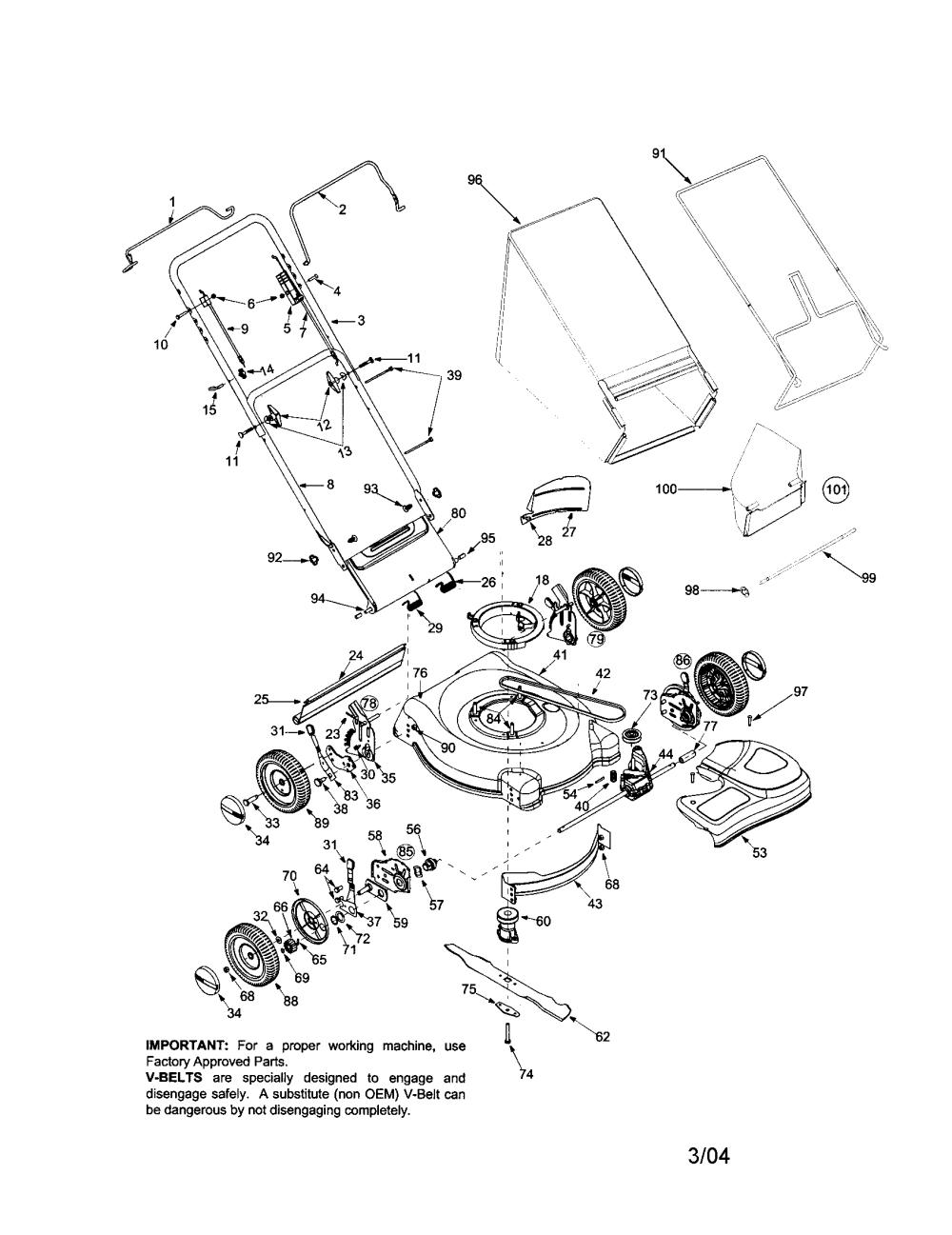 medium resolution of bolens 446 21 rear discharge mower diagram