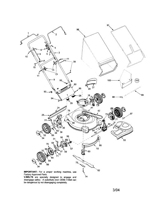 small resolution of bolens 446 21 rear discharge mower diagram