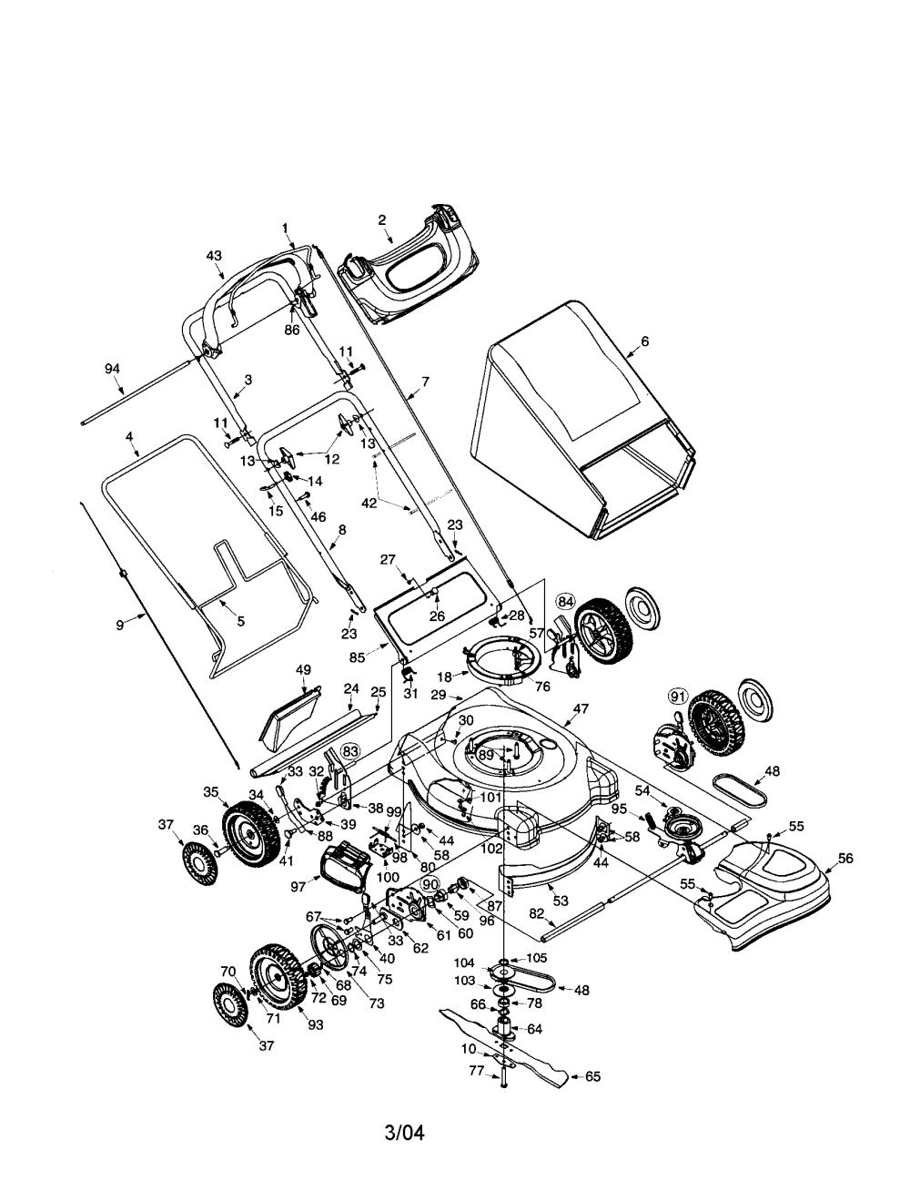 medium resolution of troybilt 12a 466n063 21 3 in 1 smart speed mower diagram