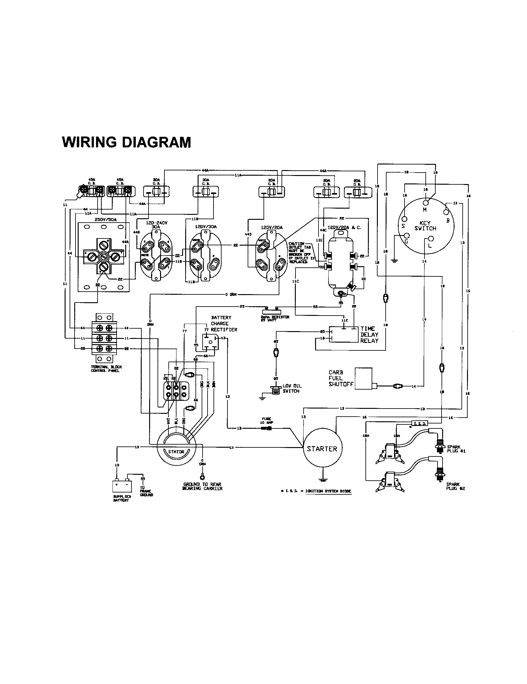 generac generator wiring diagram parts model 13131