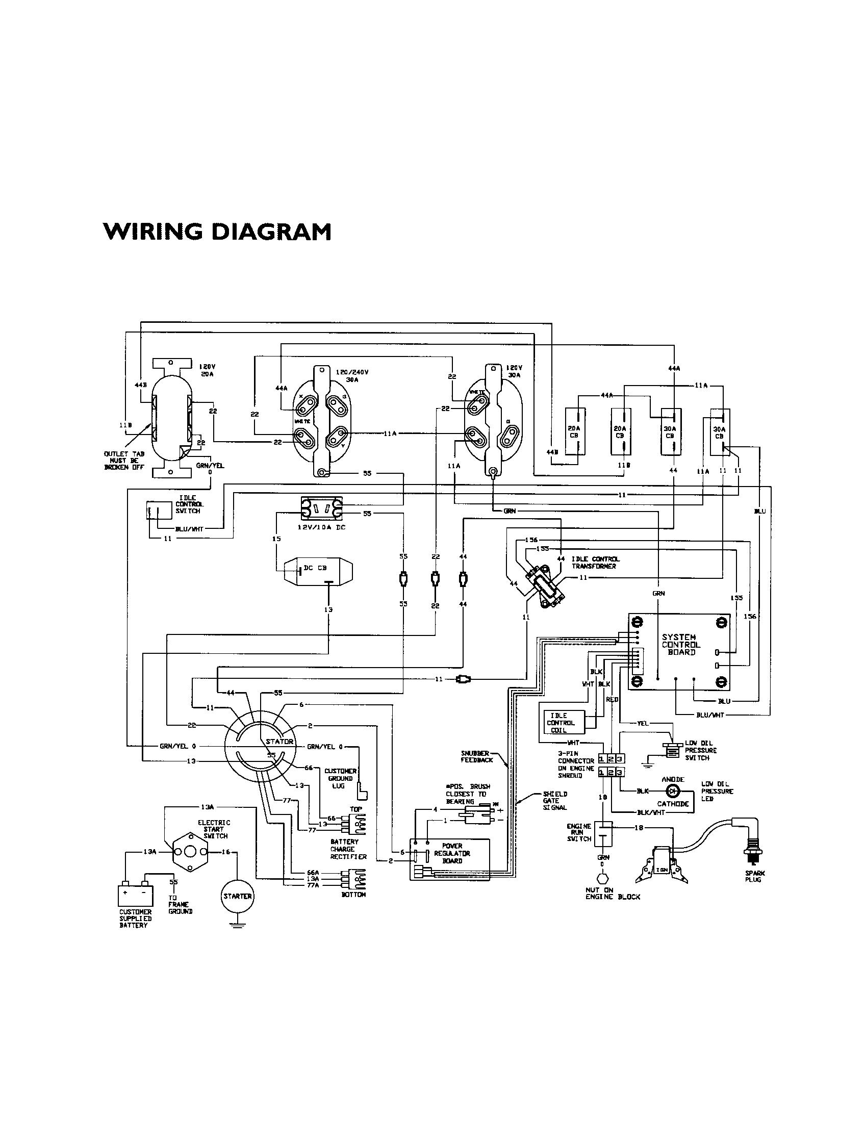 Onan 4000 Generator Wiring Diagram. Onan Cck Electronic