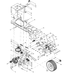 mtd 609 drive assembly diagram [ 1696 x 2200 Pixel ]