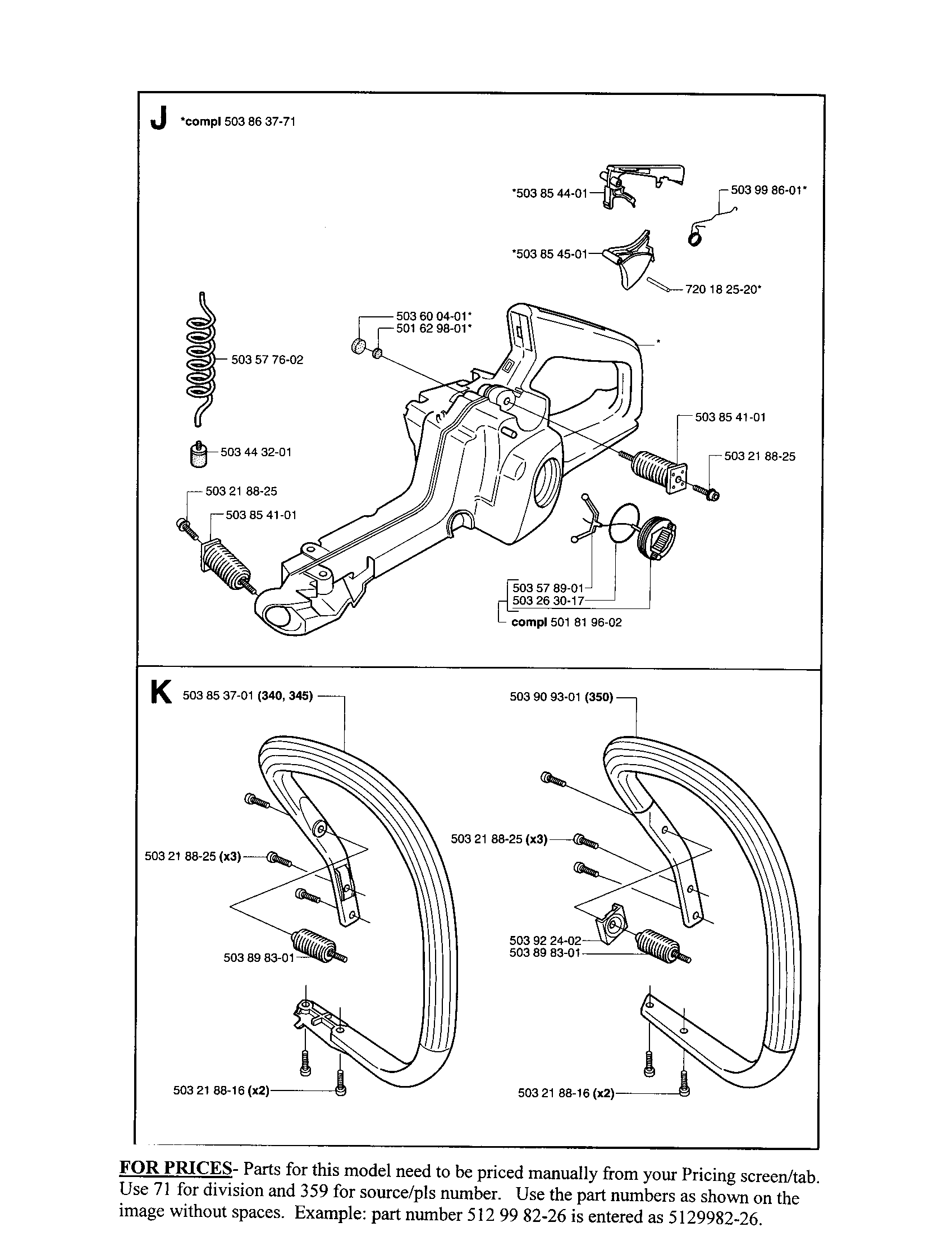 PAGE 5 Diagram & Parts List for Model 340 Husqvarna-Parts