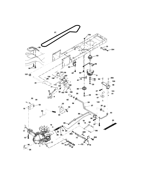 small resolution of looking for craftsman model 917273643 front engine lawn tractor craftsman dyt 4000 transmission diagram