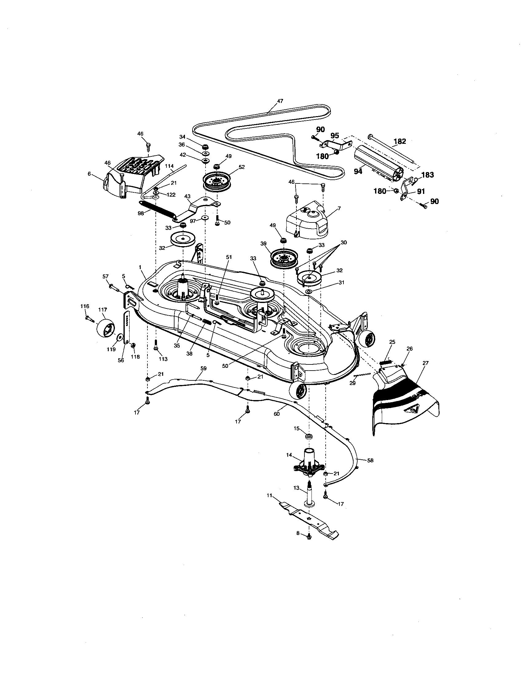 MOWER DECK Diagram & Parts List for Model 917276101