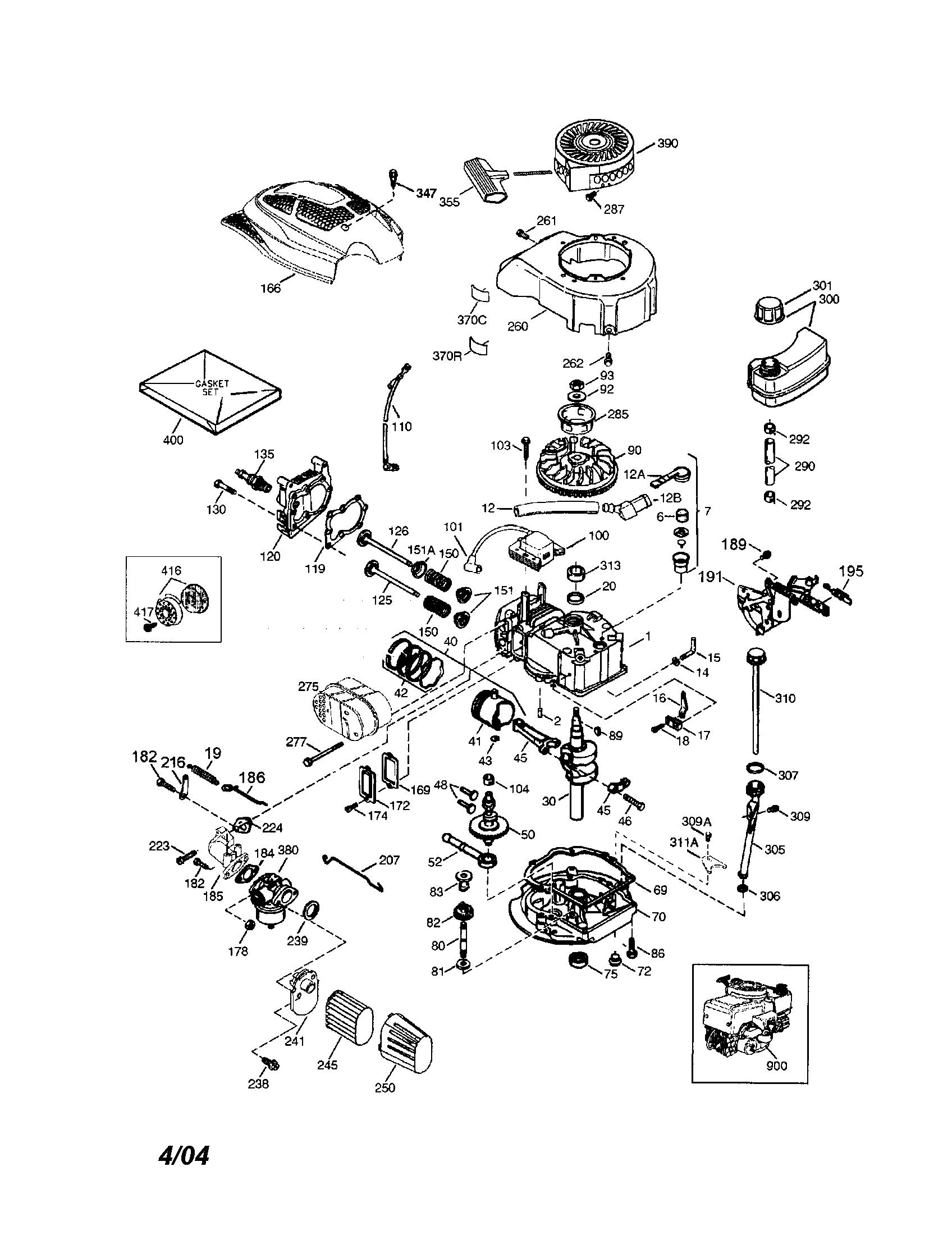 Tecumseh Engine Model 2068570 C Manual