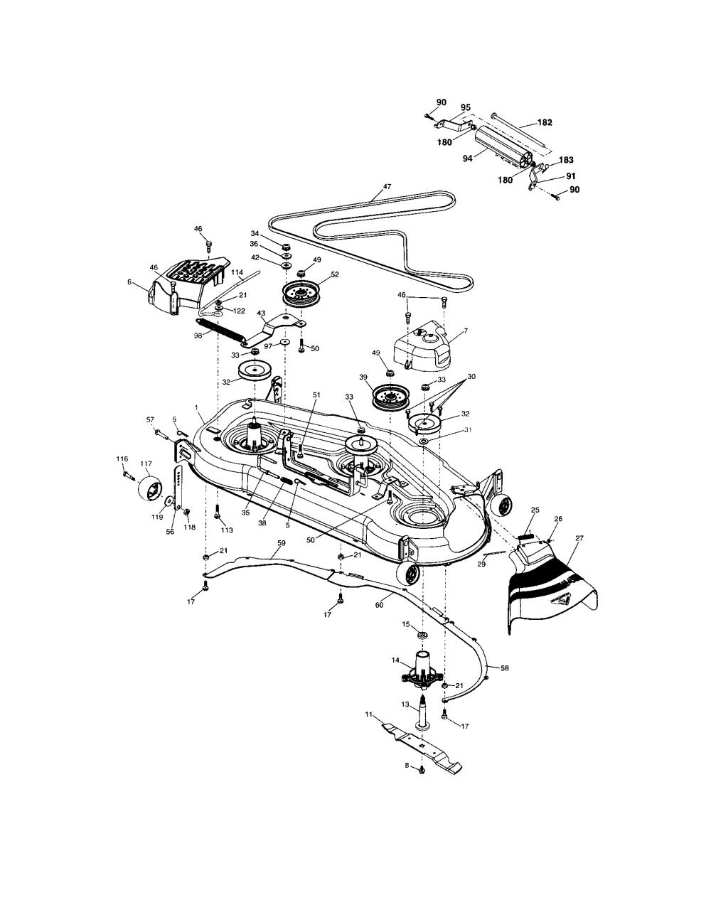 medium resolution of craftsman 917276120 mower deck diagram