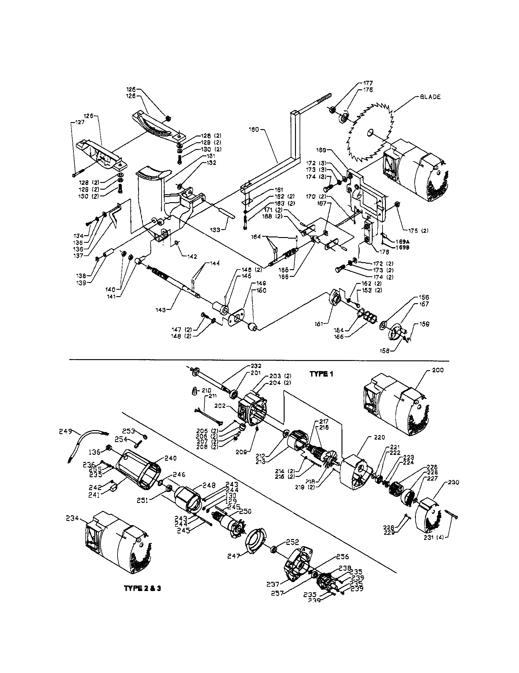 delta motor wiring diagram parts of the nose table saw get free image