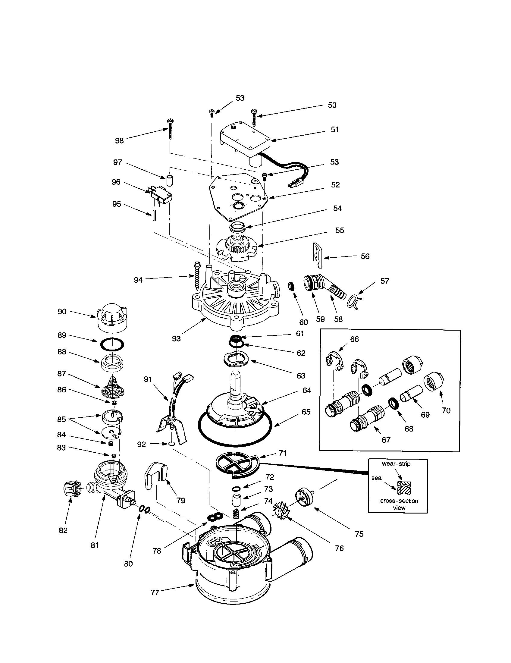 kenmore water softener parts diagram