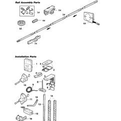 Garage Door Opener Parts Diagram Tracker Pro Guide Wiring Craftsman Model 13953919