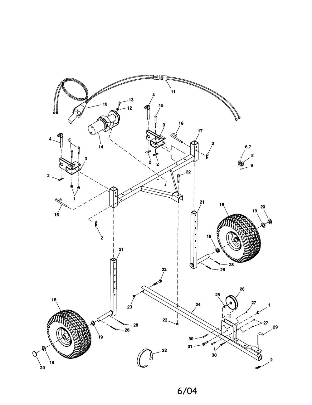 medium resolution of agri fab 45 0353 3 point hitch trailer diagram