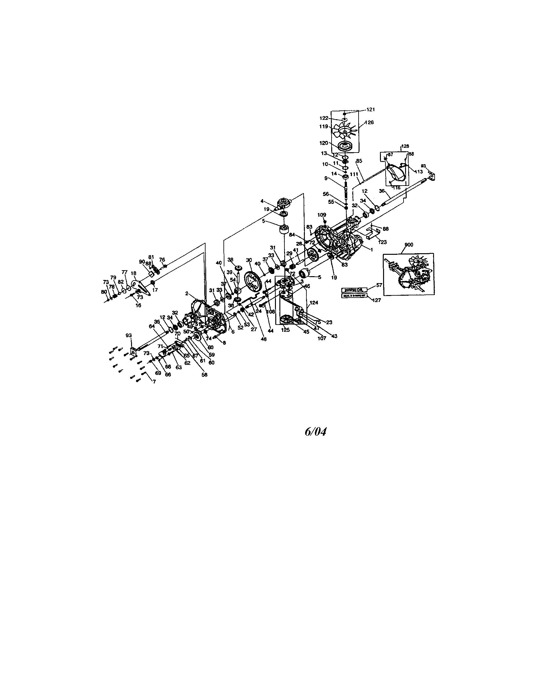 Model # 917273140 Craftsman Tractor Mower deck (97 parts