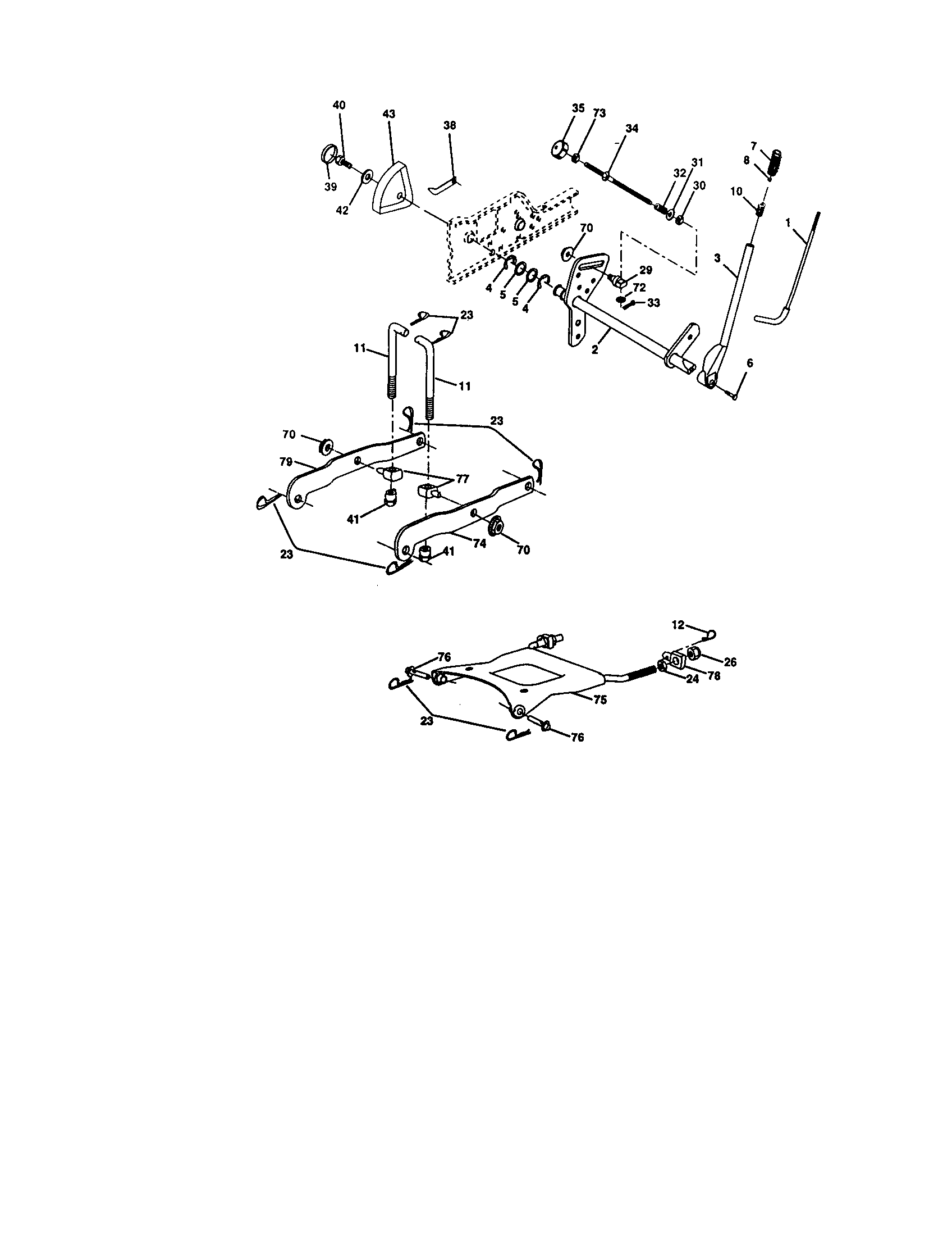 LIFT ASSEMBLY Diagram & Parts List for Model 917276080