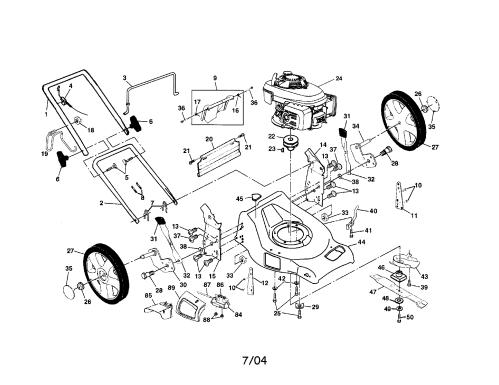 small resolution of craftsman 917378960 engine housing handle diagram