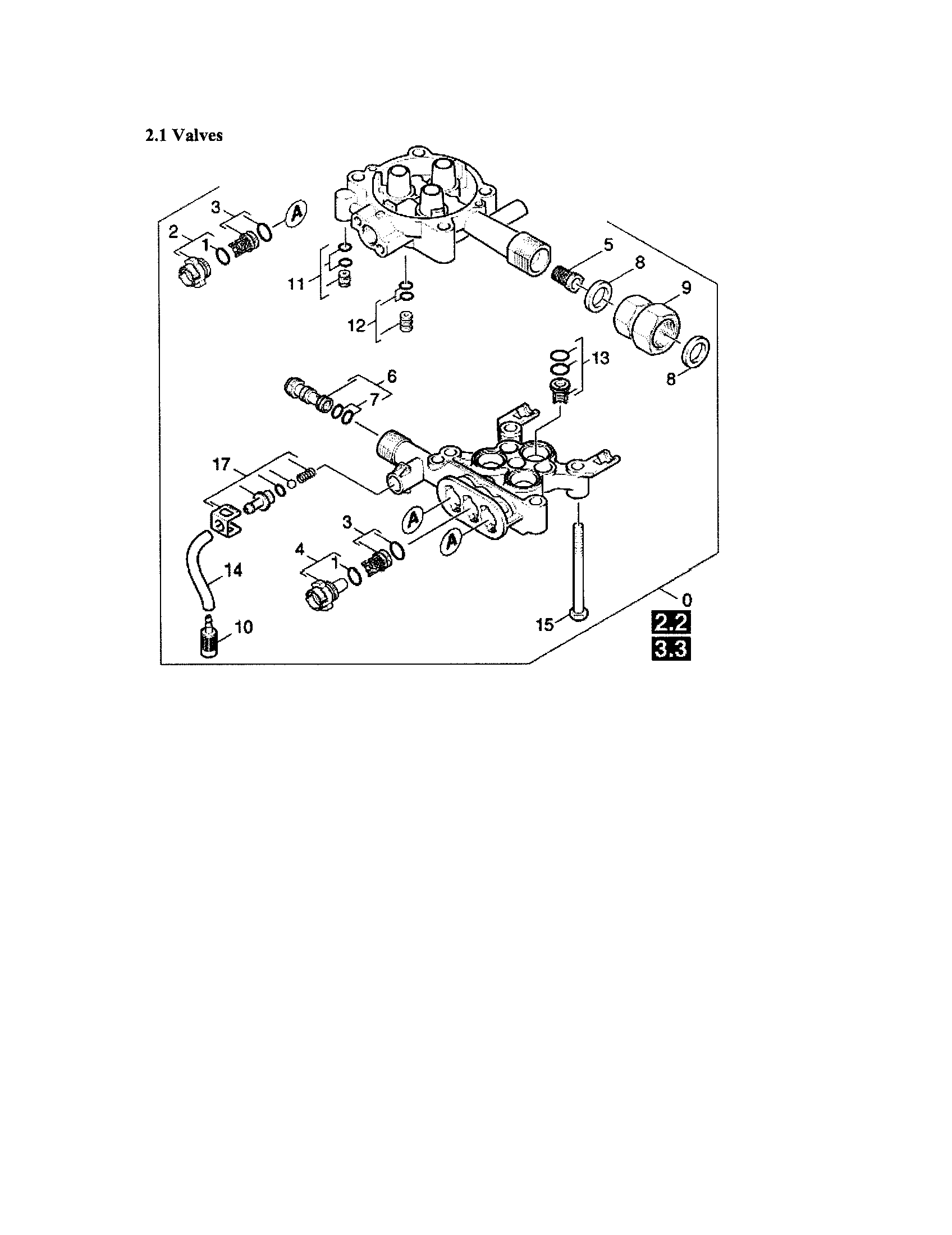 VALVES/PUMP SET Diagram & Parts List for Model K4400G