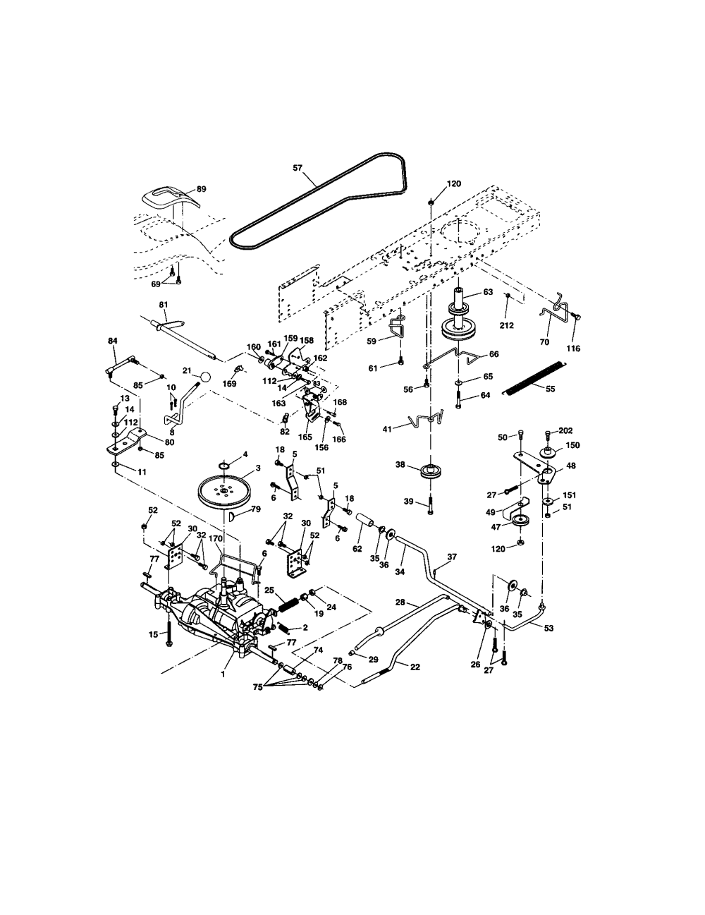 medium resolution of craftsman 917273399 ground drive diagram