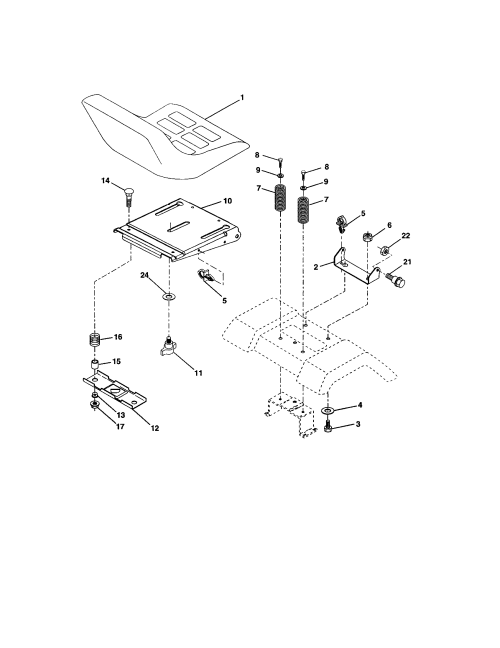 small resolution of craftsman 917273399 seat assembly diagram