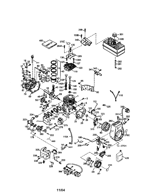 small resolution of carburetor diagram and parts list for craftsman allproductsparts mg zr horn wiring diagram