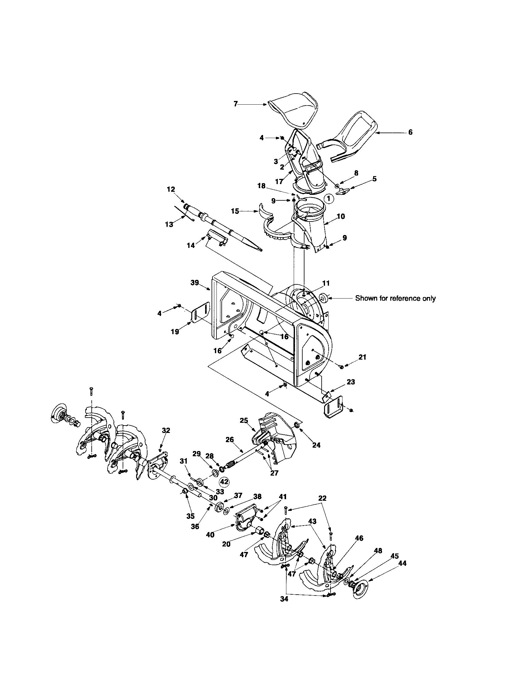CHUTE/AUGER/IMPELLER Diagram & Parts List for Model
