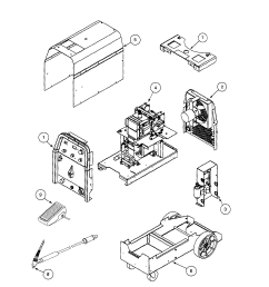 lincoln precision tig 185 11105 to 11109 welder assembly diagram welder assembly other parts [ 1742 x 2237 Pixel ]