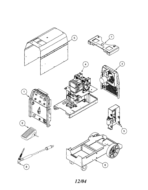 small resolution of lincoln precision tig 185 11105 to 11109 welder assembly diagram welder assembly other parts