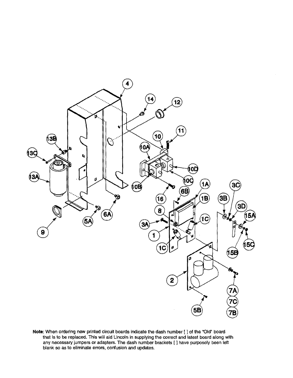 medium resolution of lincoln precision tig 185 11105 to 11109 arc starter and bypass assembly diagram