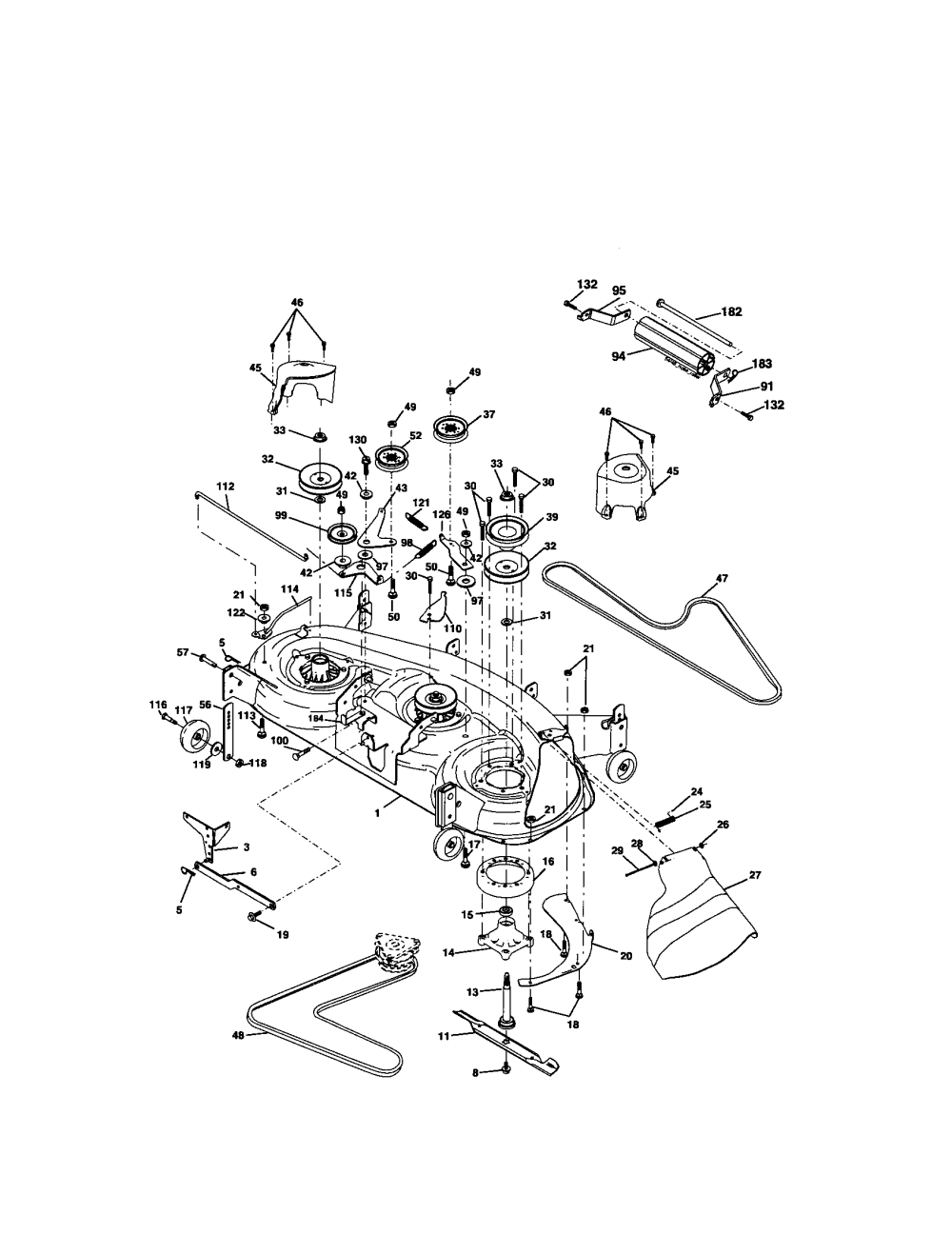 medium resolution of looking for craftsman model 917276320 front engine lawn tractor craftsman 917276320 mower deck diagram