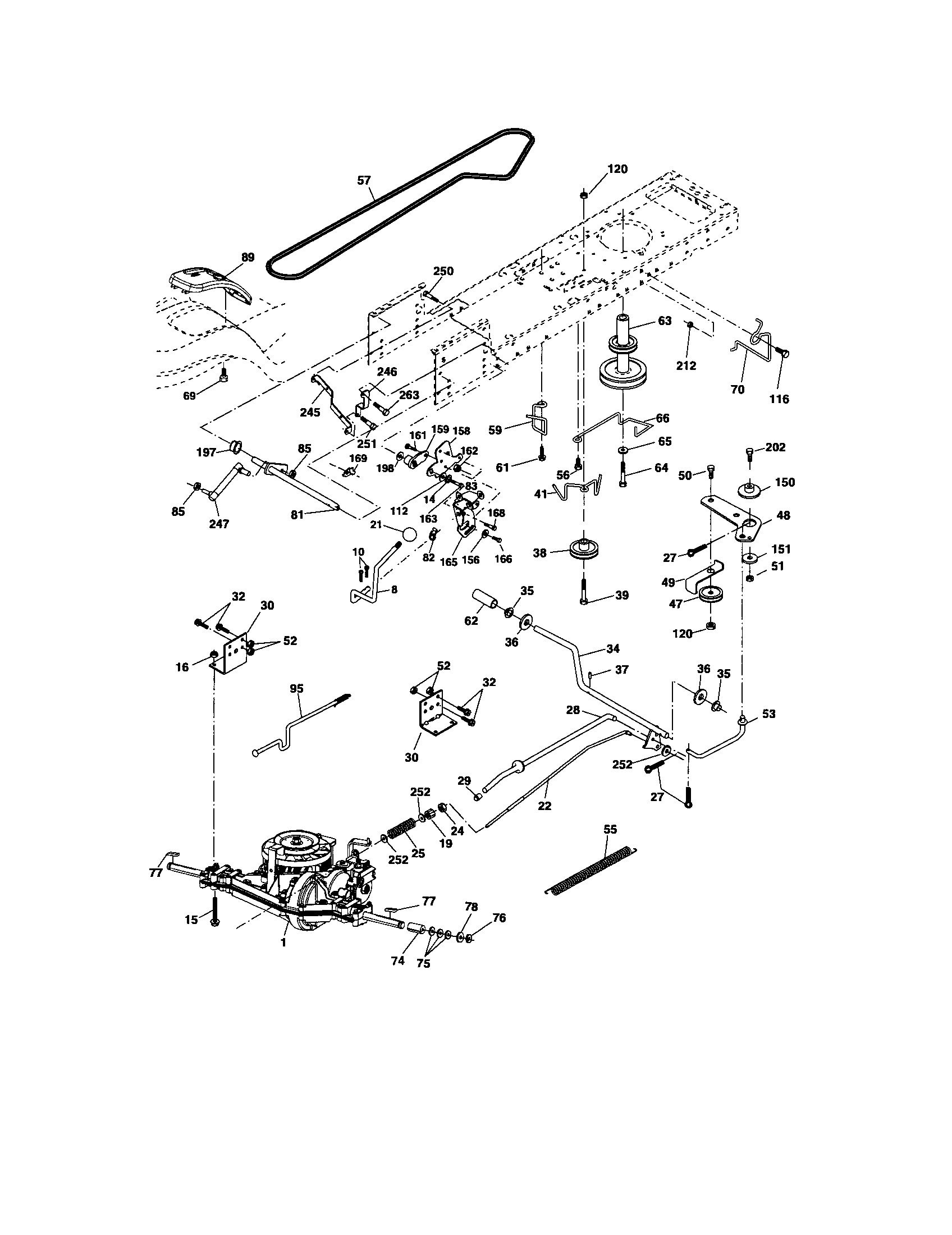 hight resolution of craftsman model 917275820 lawn tractor genuine parts craftsman dlt 2000 belt craftsman dlt 3000 wiring diagram