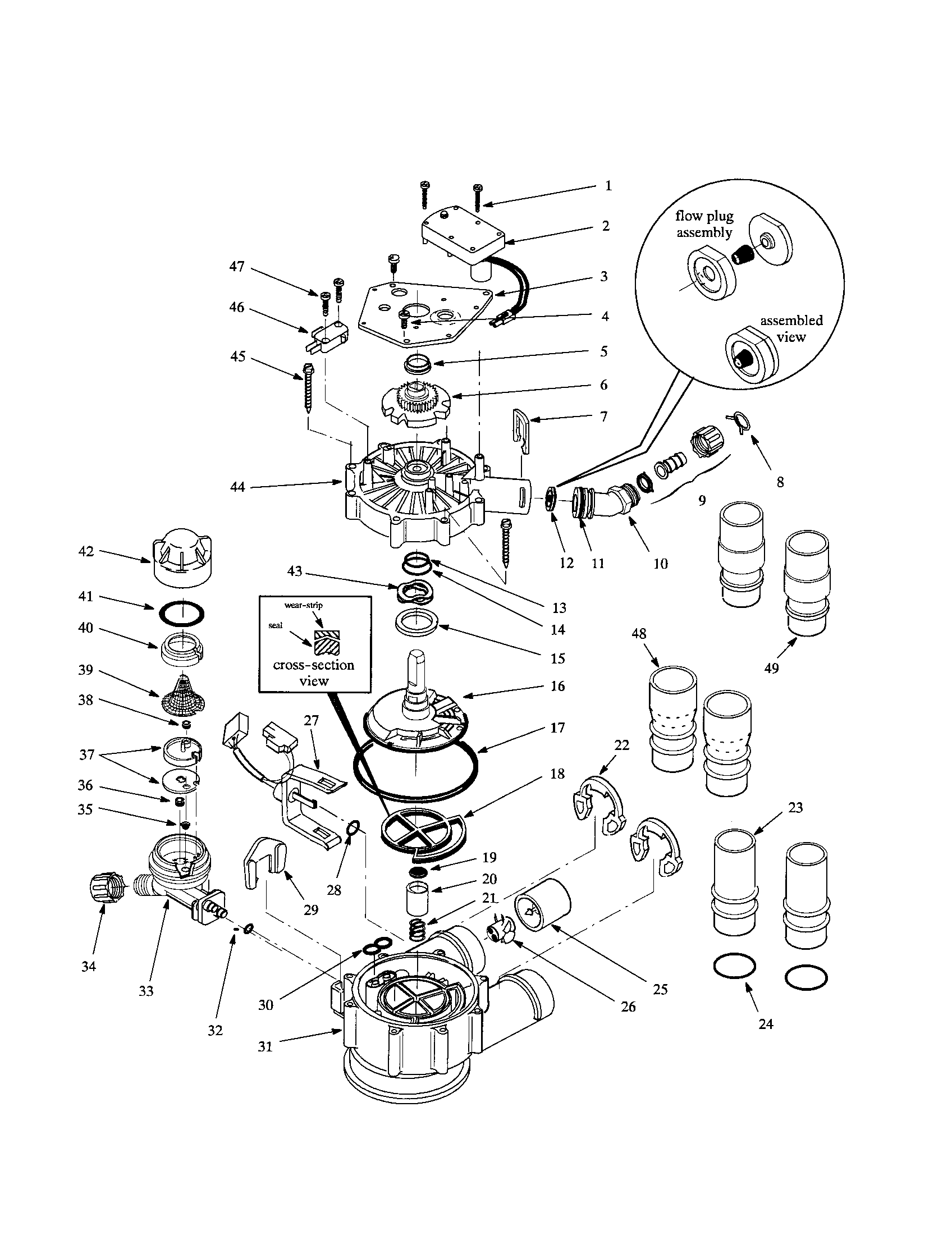 hight resolution of whirlpool whes40 motor tubing valve cover diagram