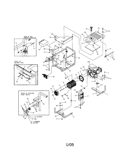 small resolution of craftsman generator main unit parts
