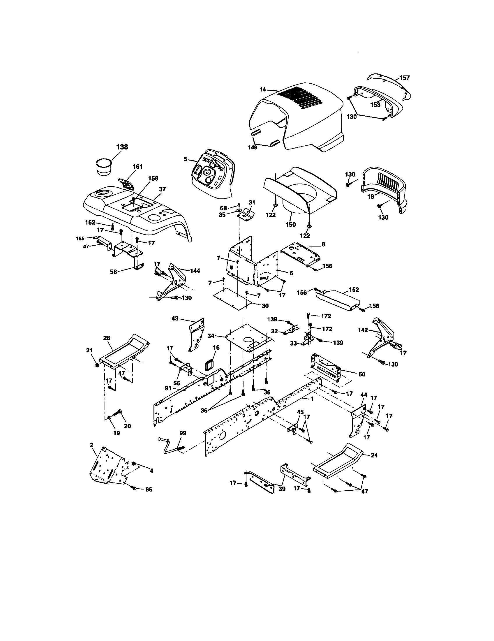 hight resolution of craftsman 917276360 chassis and enclosures diagram