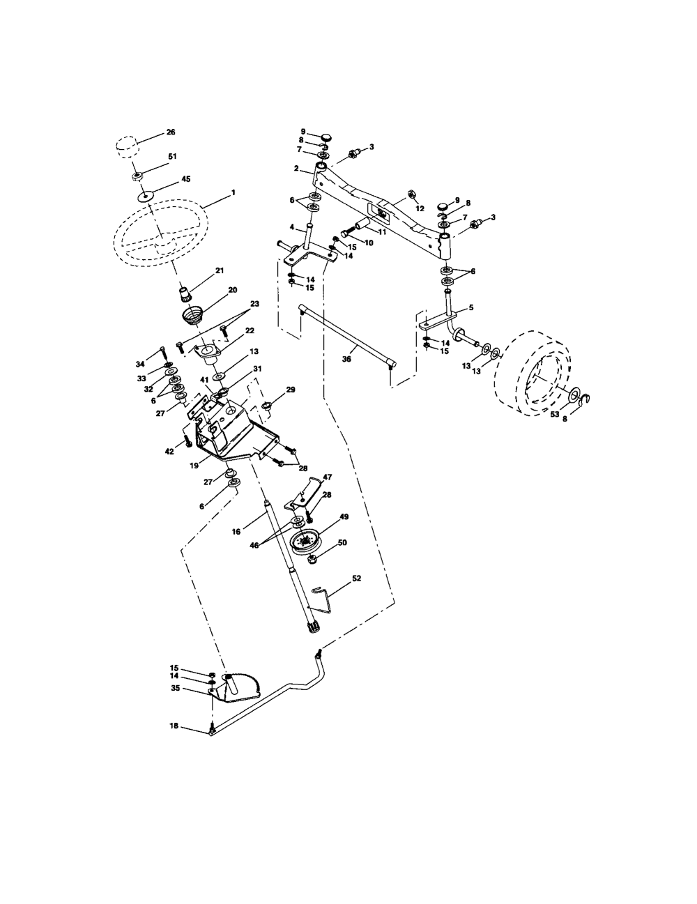 medium resolution of craftsman 917276360 steering diagram