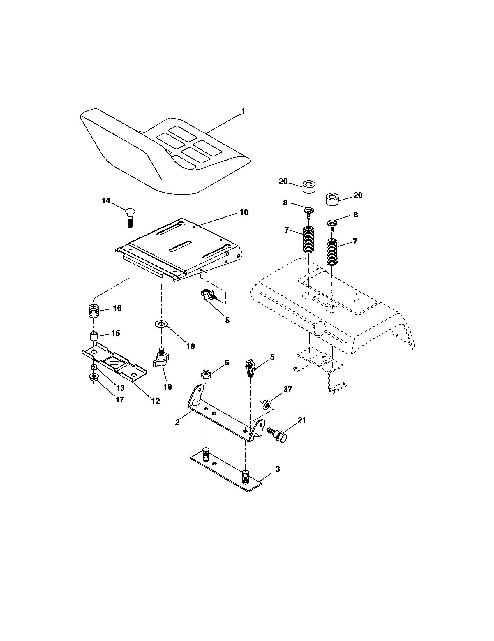 hight resolution of craftsman 917276360 seat assembly diagram