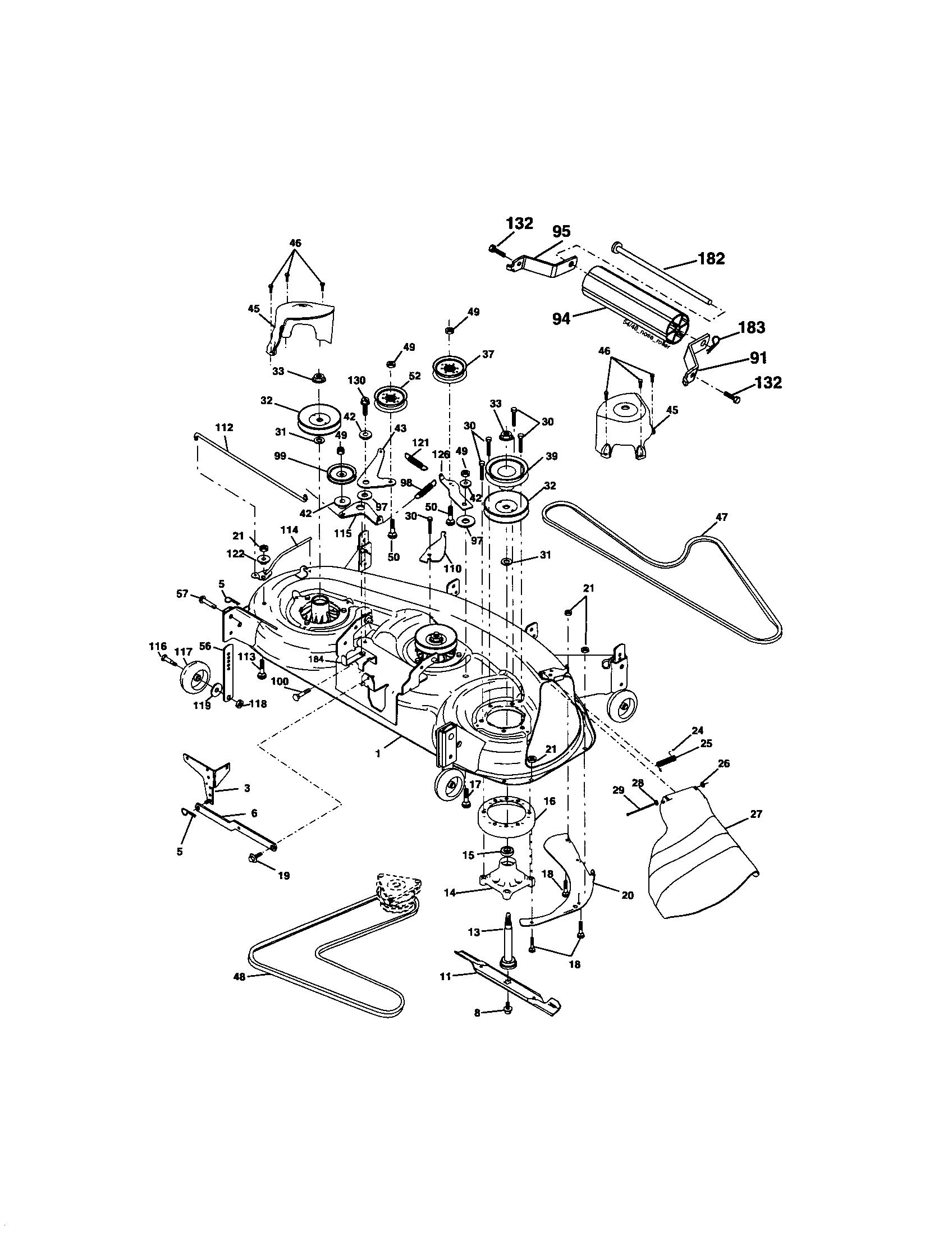 MOWER DECK Diagram & Parts List for Model 917276360